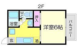 ハイツフローラム[1階]の間取り