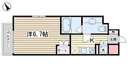 東京都北区田端1丁目の賃貸マンションの間取り