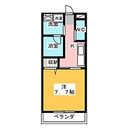イーダッシュ東静岡[2階]の間取り