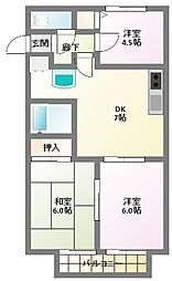 ハイツナカノ[1階]の間取り
