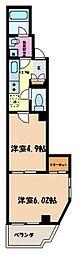 ボナール町屋[402号室]の間取り