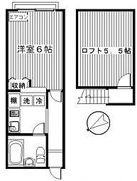 ドリームハウス下小出[2階]の間取り