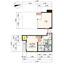 名古屋市営名城線 志賀本通駅 徒歩9分の賃貸アパート 2階1SKの間取り