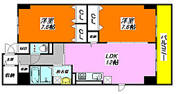 グラン・ユニゾン 707号室[7階]の間取り