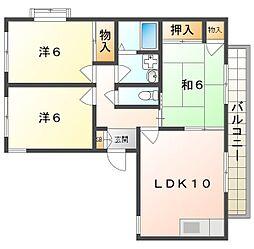 メゾン新家 A[2階]の間取り