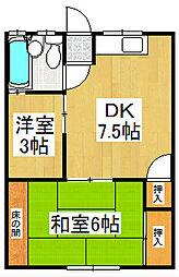 春吉アパート[1階]の間取り