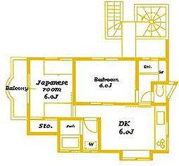 メゾンカワイ第2[2階]の間取り