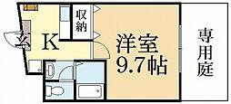 メゾンK-Three[1階]の間取り
