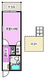 リファインコート八木[1階]の間取り