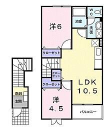 ラニ−ガ−デン[2階]の間取り