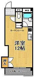 ヴァンコート三軒家東[4階]の間取り