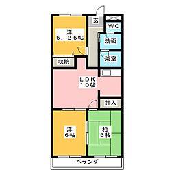 サンスクウェア[3階]の間取り