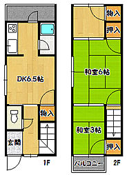 [テラスハウス] 兵庫県神戸市須磨区明神町3丁目 の賃貸【/】の間取り