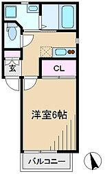 東京都豊島区北大塚1丁目の賃貸アパートの間取り