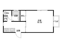 ダイセンアパートD[201号室]の間取り