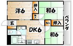 福岡県北九州市小倉南区沼本町1の賃貸マンションの間取り