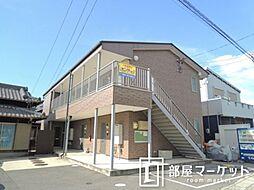 愛知県豊田市宝町庚申塚の賃貸アパートの外観