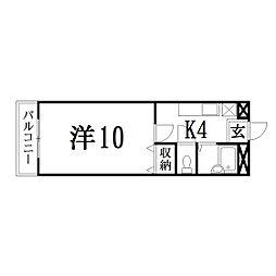 静岡県浜松市中区佐鳴台2丁目の賃貸マンションの間取り