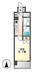 ララステージ熱田[7階]の間取り