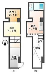 クレイタスパークI[1階]の間取り