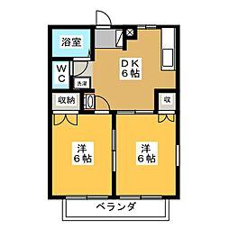 バイオレットハイム[2階]の間取り