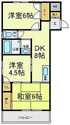 吉井マンション[2階]の間取り