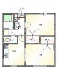 パルフィオーレF[2階]の間取り