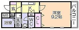 SALA13[105号室]の間取り
