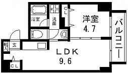 グランガーデン足代新町[703号室号室]の間取り