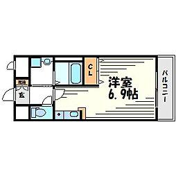 カルム六番町[2階]の間取り