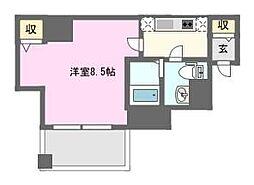 ウェリナ日本橋[9階]の間取り