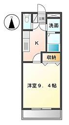 愛知県名古屋市緑区左京山の賃貸アパートの間取り