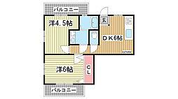 ピュアエスペラントIII[3階]の間取り