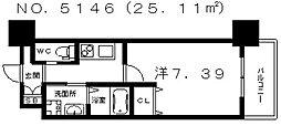 クローバー・グランデ田辺駅前[2階]の間取り