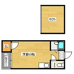 マキシム名島[105号室]の間取り