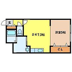 北海道札幌市北区北十九条西4丁目の賃貸マンションの間取り