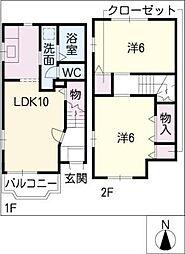 [タウンハウス] 愛知県あま市本郷郷前 の賃貸【/】の間取り