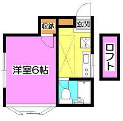 埼玉県所沢市東狭山ケ丘2丁目の賃貸アパートの間取り