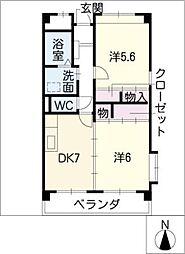 マンションファーストミュー[3階]の間取り