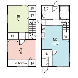 [一戸建] 福井県福井市和田中1丁目 の賃貸【/】の間取り