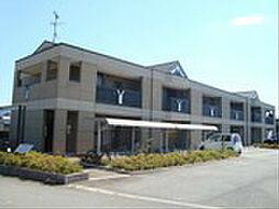 滋賀県愛知郡愛荘町目加田の賃貸アパートの外観