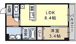 ドメールセプトエトワール椥辻[301号室号室]の間取り