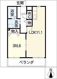 第3さくらマンション中央[3階]の間取り
