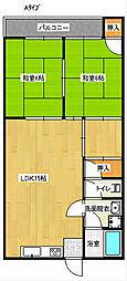 セブン西川マンション[2階]の間取り