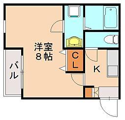 福岡県福岡市博多区麦野5の賃貸アパートの間取り