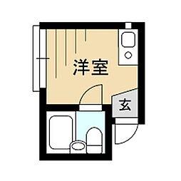 東京都杉並区成田東4丁目の賃貸アパートの間取り