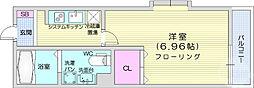 仙台市地下鉄東西線 連坊駅 徒歩7分の賃貸アパート 2階1Kの間取り