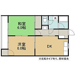 アパートメント1040B[201号室]の間取り