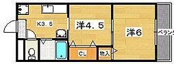 ベレール岡山手[1階]の間取り