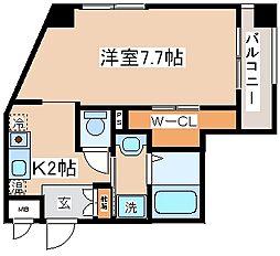 兵庫県神戸市長田区海運町4丁目の賃貸マンションの間取り